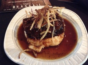 Bourbon-Apricot Glazed Beef Short Ribs, Mashed Potatoes & Crispy Shallots