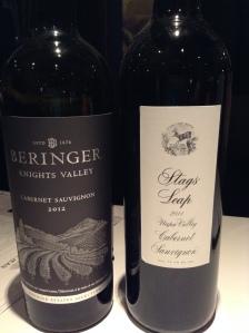 Beringer and Stag's Leap Cabernet Sauvignon